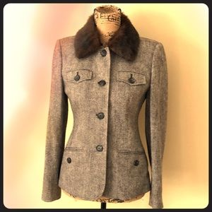 Size 4 Brown Lined Michael Kors Brown Detach Fur